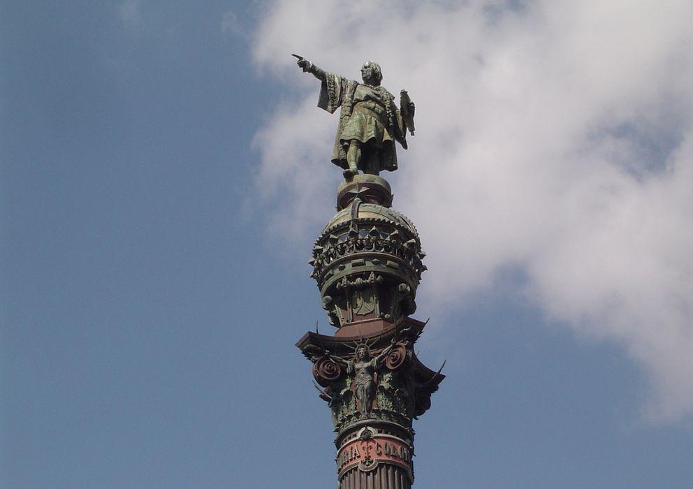 Foto: Estatua de Colón en Barcelona