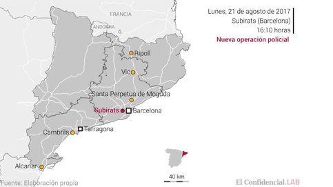 De Subirats a Alcanar, los principales escenarios de los terroristas de Barcelona