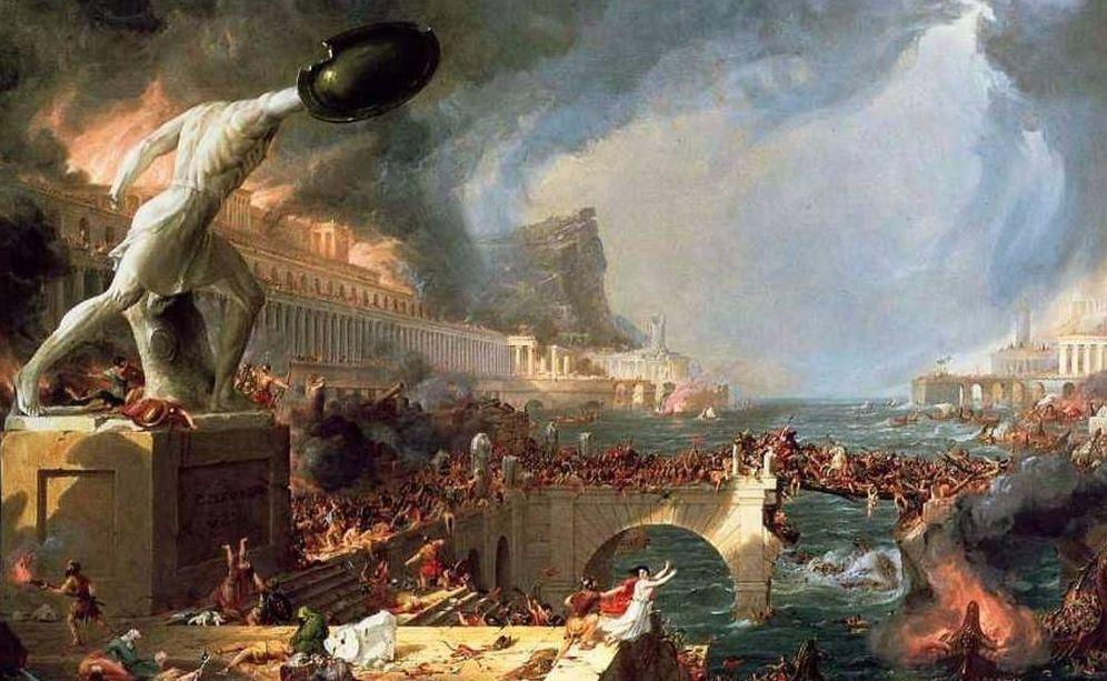 Foto: La caída del Imperio romano (Thomas Cole, 1836)