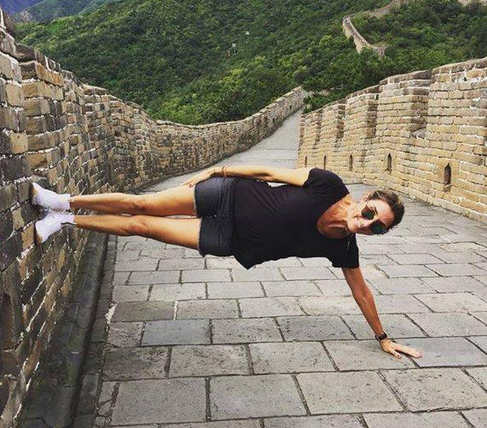 Foto: Paz Padilla en la Muralla China. (Gtres)