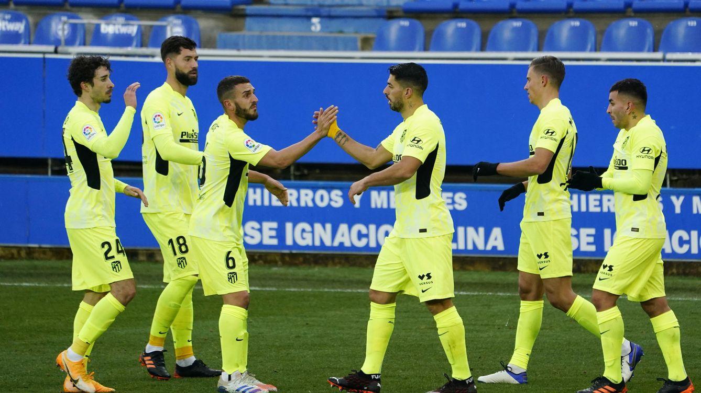 Foto: El Atlético de Madrid celebra su primer gol contra el Alavés. (Reuters)