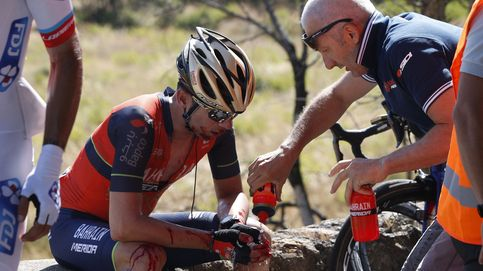 La caída, parte del ciclismo: Si me caigo, no esperes, me levanto y os alcanzo
