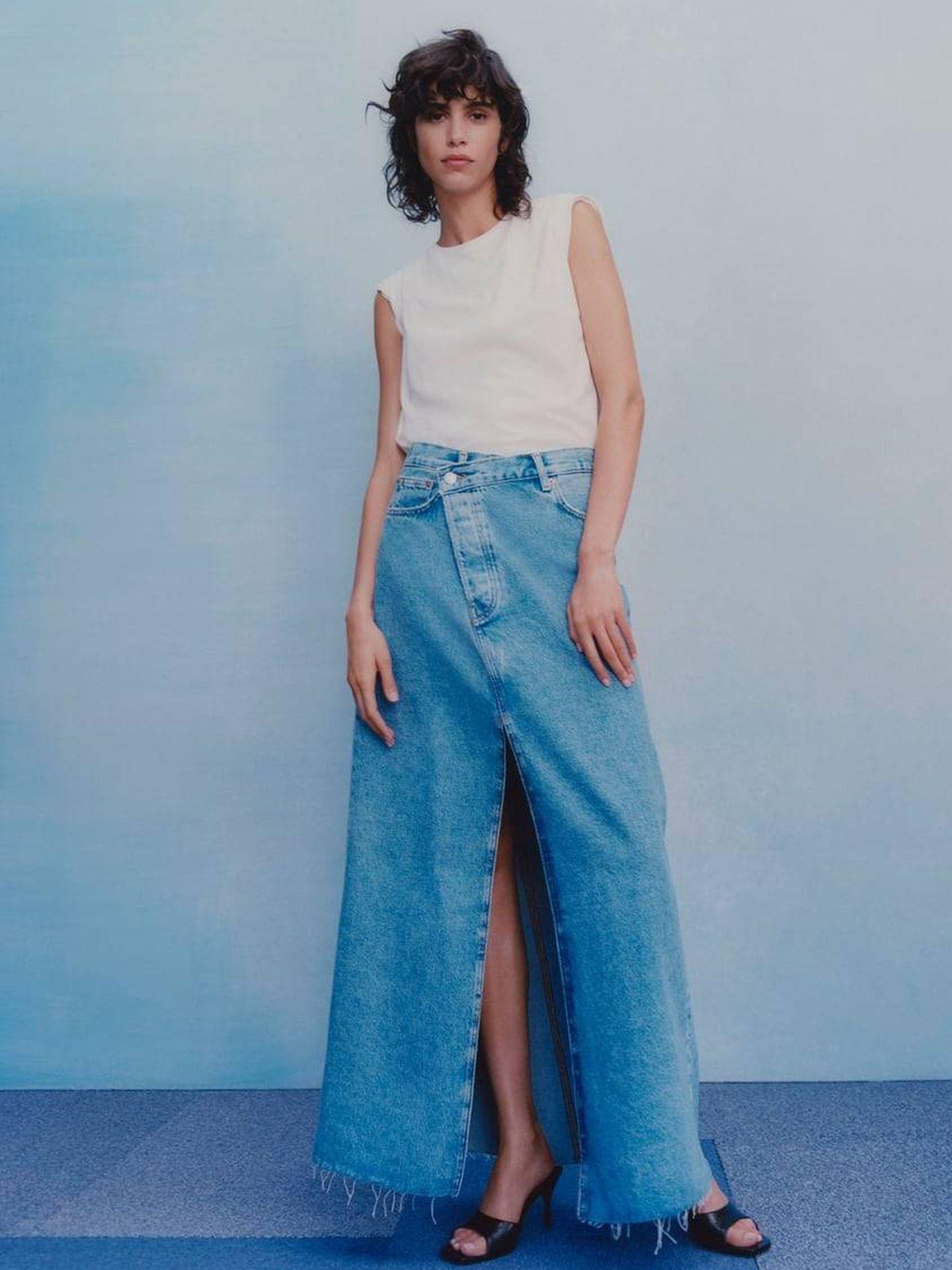 Falda de las rebajas de Zara. (Cortesía)