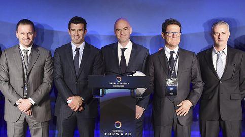 Infantino & Amigos: Mourinho, Figo y Hierro arropan al candidato a la FIFA