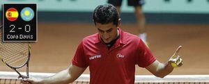 España, a un paso de los cuartos de la Davis tras los triunfos de Ferrero y Almagro