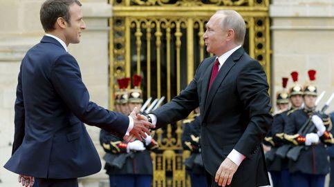 Macron 'amenaza' a Putin: Si Asad usa armas químicas, habrá respuesta
