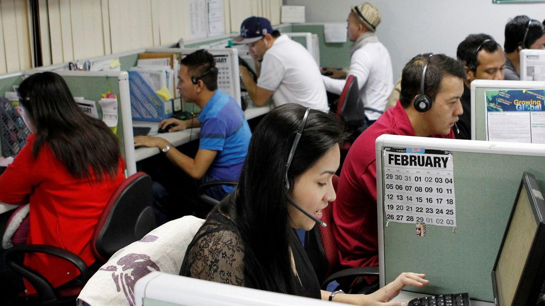 Foto: Trabajadores de un call center de Manila en 2012. (Reuters)