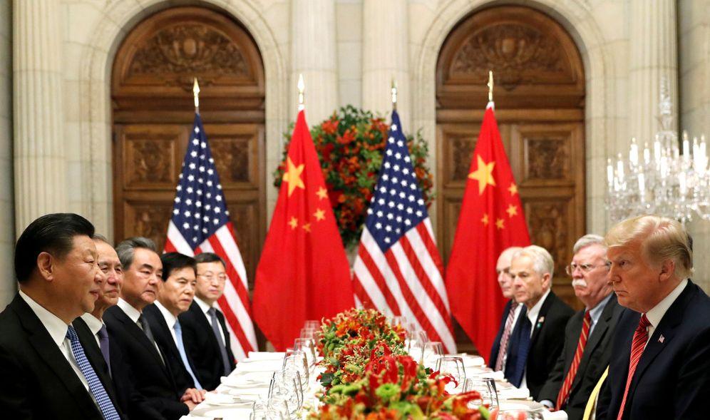 Foto: Donald Trump y Xi Jinping durante una cena de trabajo en el G-20, en Buenos Aires. (Reuters)