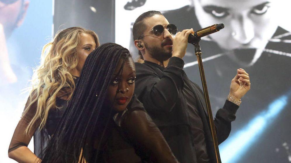 Foto: Maluma, durante uno de los conciertos de su gira por España