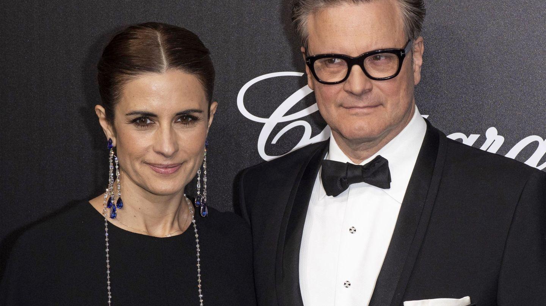 Colin Firth, con su exmujer, Livia. (EFE)