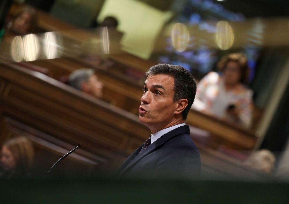 Foto: El presidente en funciones, Pedro Sánchez, en el pleno del Congreso del pasado 11 de septiembre. (Reuters)