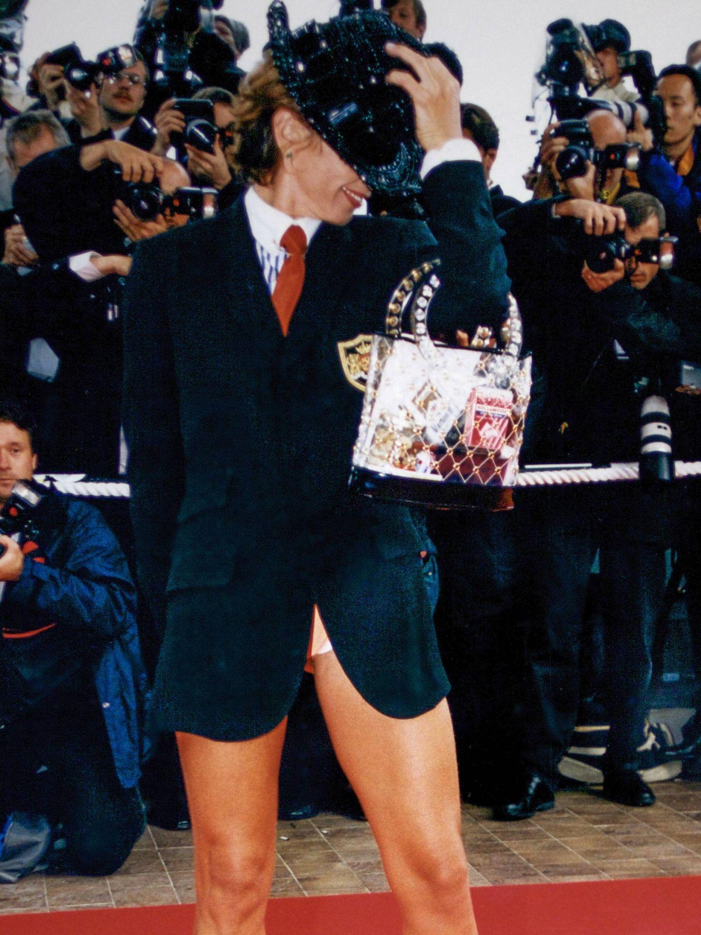 Victoria Abril, en el Festival de Cannes en 1997. (Getty)