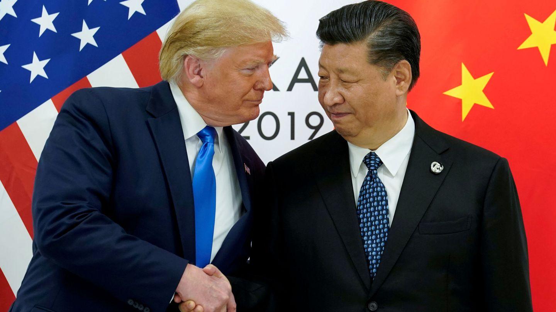 Trump y Xijing Ping durante la reunión del G20. (EFE)