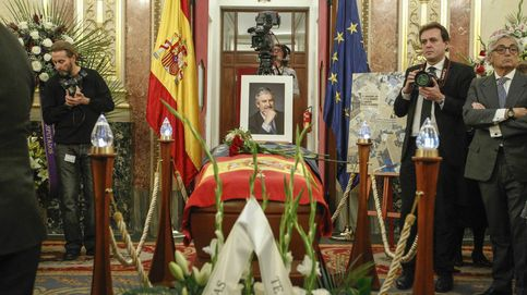 Capilla ardiente de Manuel Marín: el Rey y la cúpula del PSOE dan su último adiós