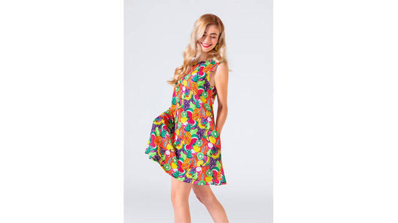 Vestido tirante ancho - Tutti Frutti