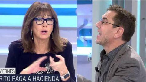 Intercambio de golpes entre Ana Rosa y Monedero por el rey: Hiciste lo mismo