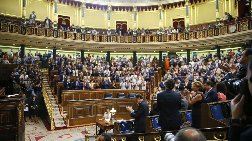 Foto: El Congreso de los Diputados, en la tercera sesión de investidura de Mariano Rajoy la pasada semana. (EFE)
