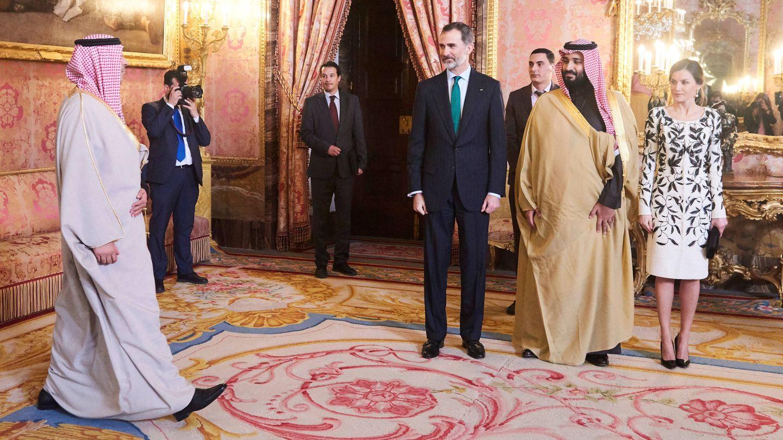 Los Reyes con el heredero saudí. (Limited Pictures)