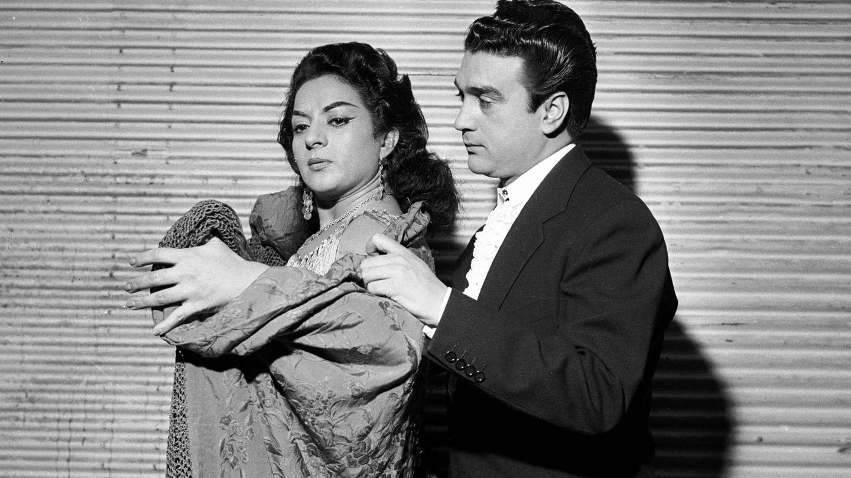 Con su marido, el Pescaílla. (Cordon Press)