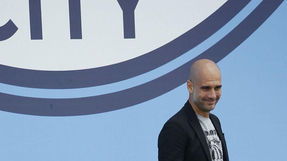 Foto: Pep Guardiola, durante su presentación como entrenador del Manchester City. (Reuters)