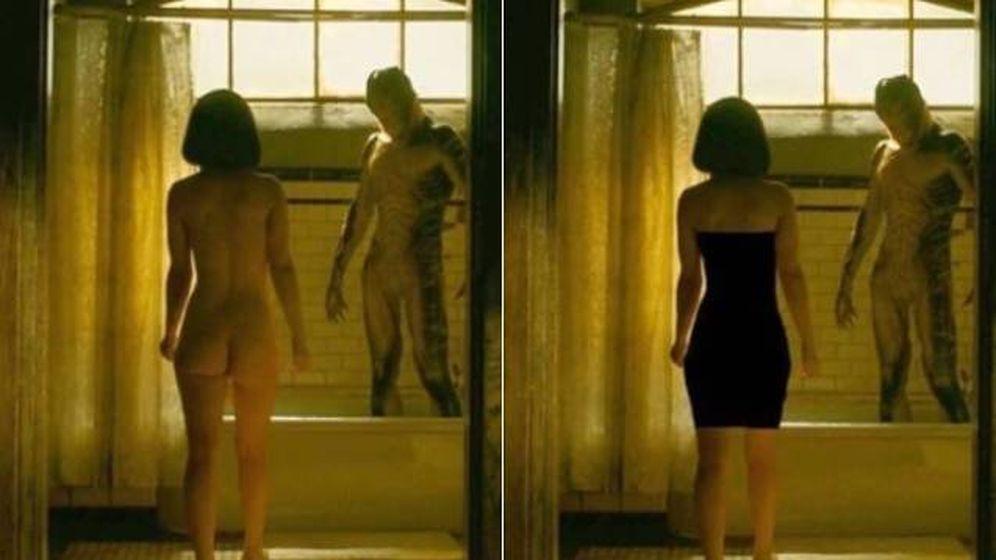 Foto: Escena de 'La forma del agua', de Guillermo del Toro, censurada en China.