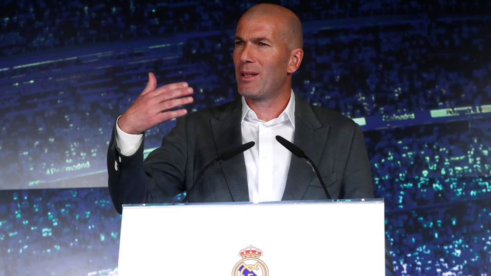 Foto: Zidane este lunes en su rueda de prensa tras volver al Real Madrid. (Reuters)