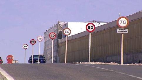 En solo 100 metros, siete señales de 70 km/h a 10 km/h