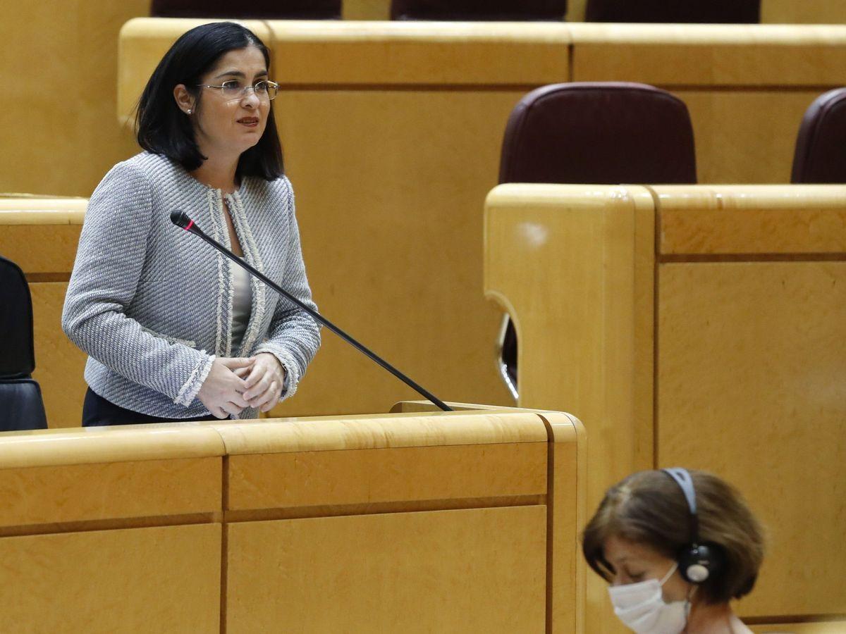 Foto: La ministra de Política Territorial y Función Pública, Carolina Darias, de la que depende el Portal de Transparencia. (EFE)