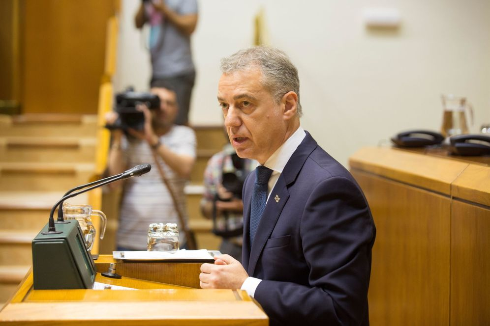 Foto: Urkullu interviene en el Parlamento vasco. (EFE)
