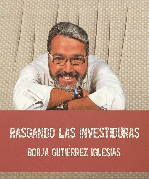 Foto: Borja Gutiérrez, en la presentación de su último libro: 'Rasgando las investiduras'.