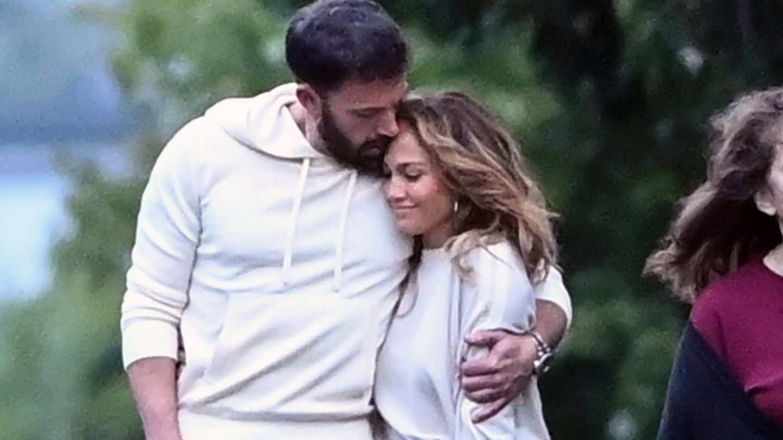 Jennifer Lopez y Ben Affleck, en Los Hamptons.