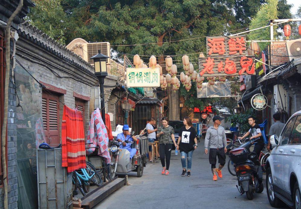 Foto: Calle comercial en Pekín. (M. Valero)