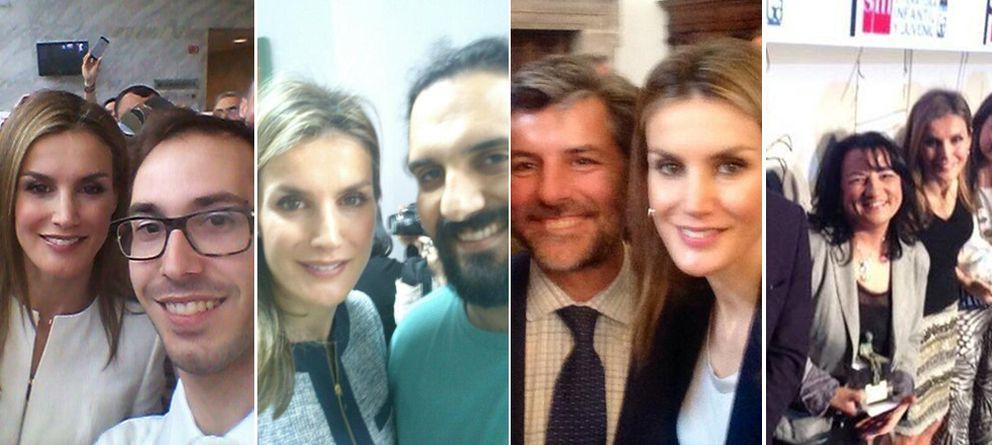 Foto: Los 'selfies' de la Reina Letizia (Twitter)