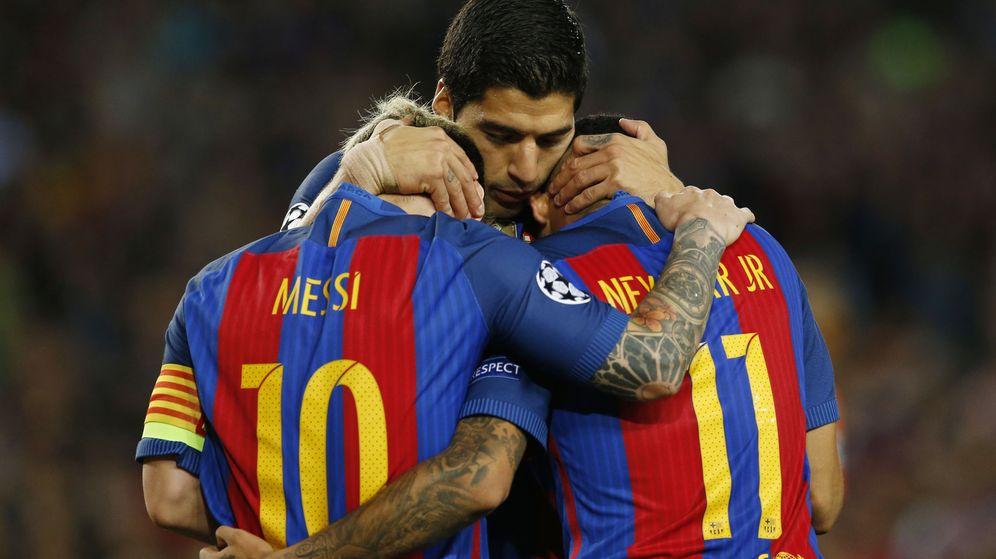 Foto: Messi, Neymar y Luis Suárez, una imagen muy habitual hace un par de años. (Reuters)