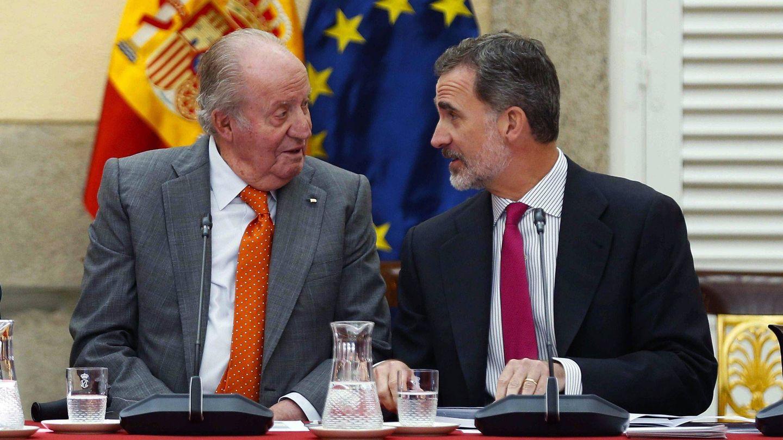 El rey Felipe VI y el rey emérito Juan Carlos I. (EFE)