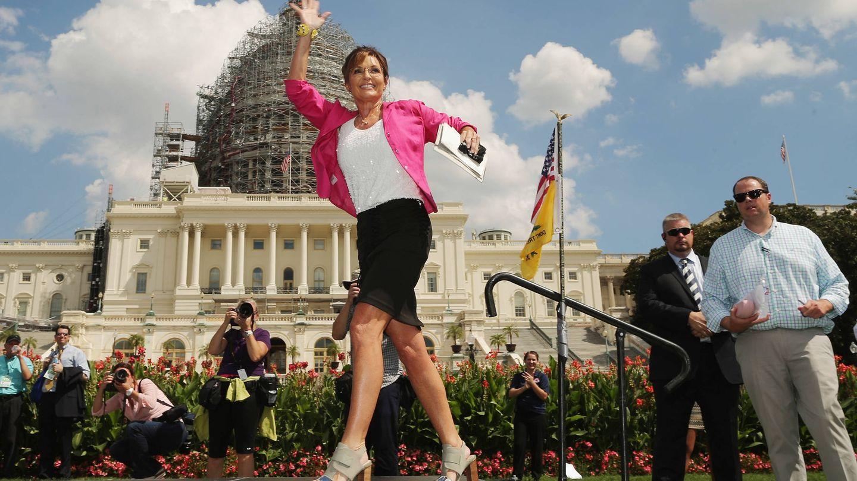 Sarah Palin, haciendo campaña en Washington. (Getty)