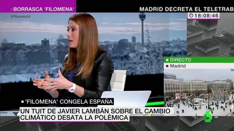 El zasca de la meteoróloga de La Sexta al presidente de Aragón: Ni idea de ciencia