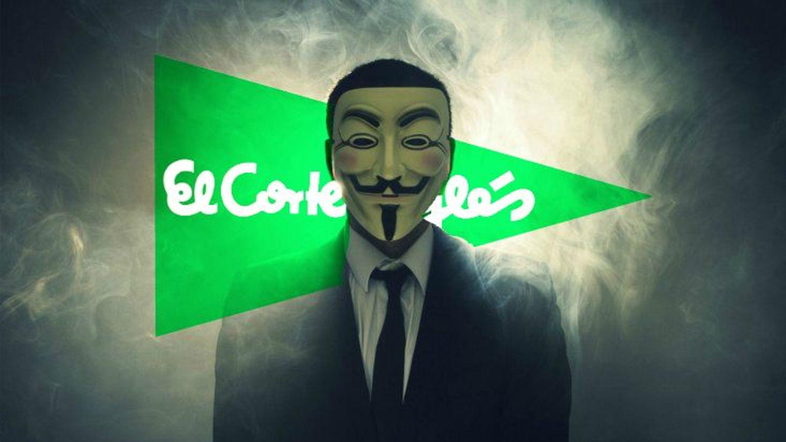 Anonymous se cuela en el corte ingl s para filtrar sus - El corte ingles papel pintado ...