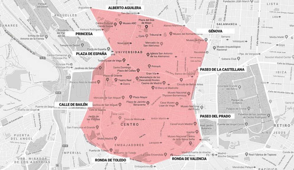 Foto: Mapa de Madrid Central. (EC)