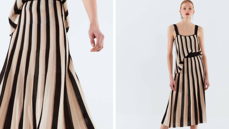 Falda sofisticada de Sfera. (Cortesía)