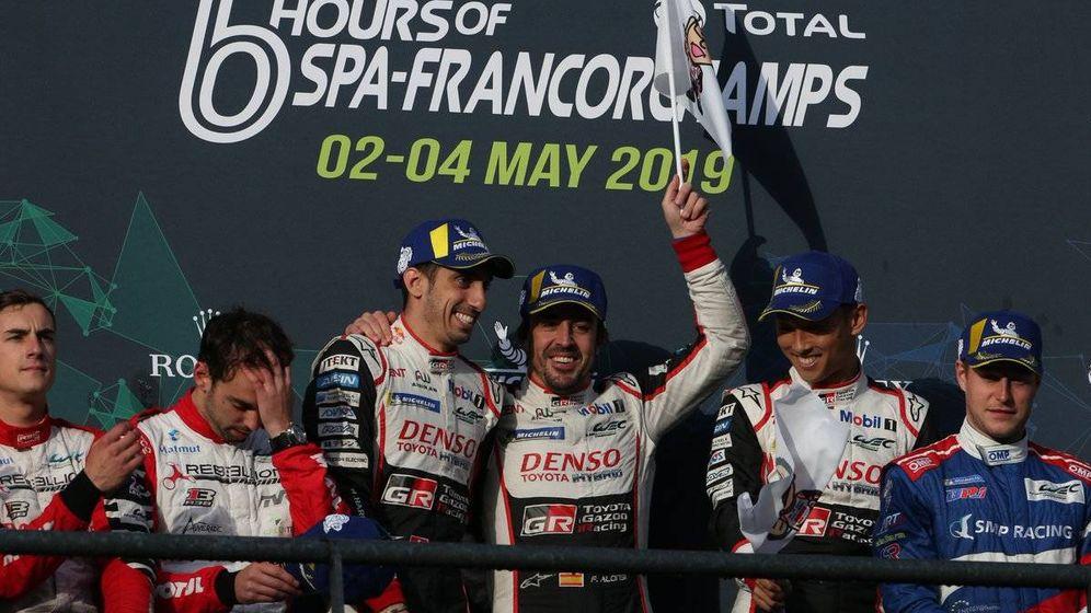 Foto: Fernando Alonso volvió a subir a lo más alto del podio en 2019. (Twitter:@Toyota_Hybrid)
