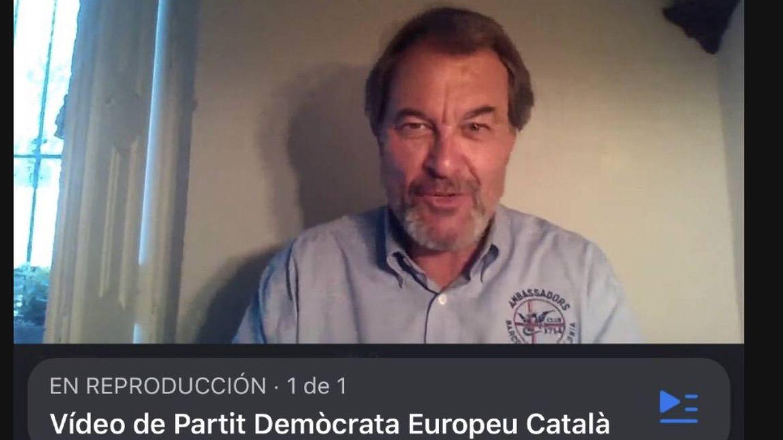 Captura de vídeo donde aparece Artur Mas