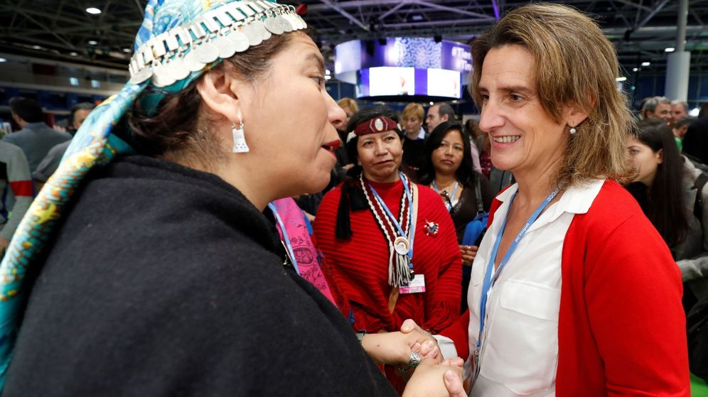 Foto: La ministra española para la Transición Ecológica en funciones, Teresa Ribera, en la cumbre del clima. (EFE)