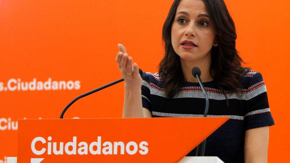 Foto: La líder de Cs en Cataluña, Inés Arrimadas, este lunes en Madrid. (EFE)
