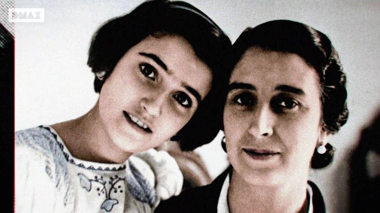 Carmen Polo junto a su hija, Carmen Franco. (Foto: DMAX)