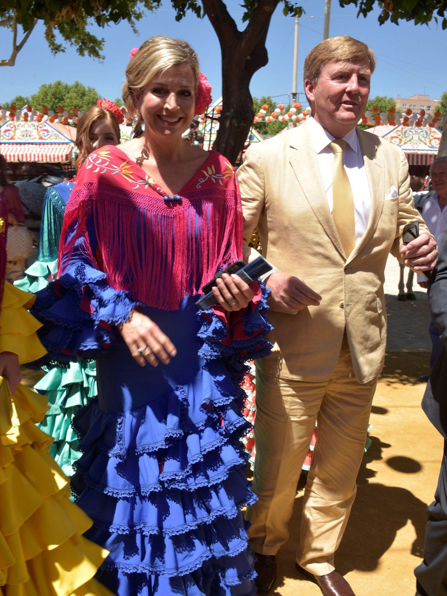Los reyes de Holanda, el año pasado en Sevilla. (EFE)
