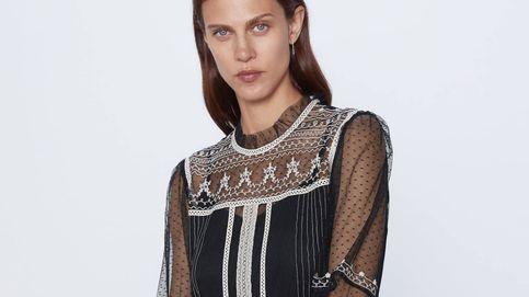 Zara nos convierte en románticas amazonas con este vestido de tul bordado
