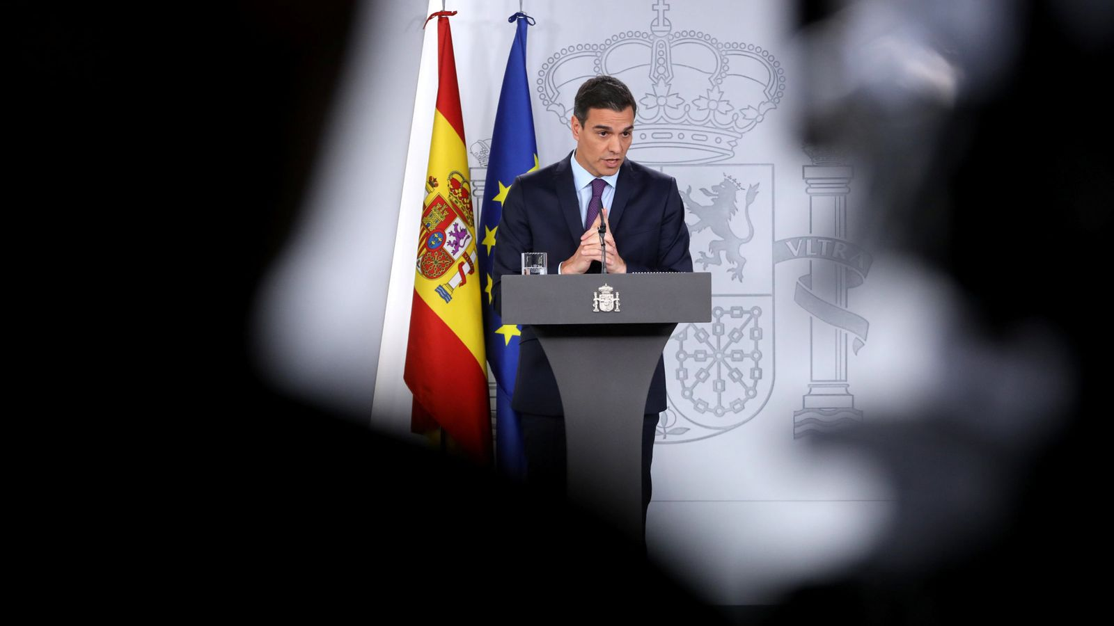 Foto: Pedro Sánchez, durante su comparecencia en La Moncloa del pasado 28 de diciembre. (Reuters)