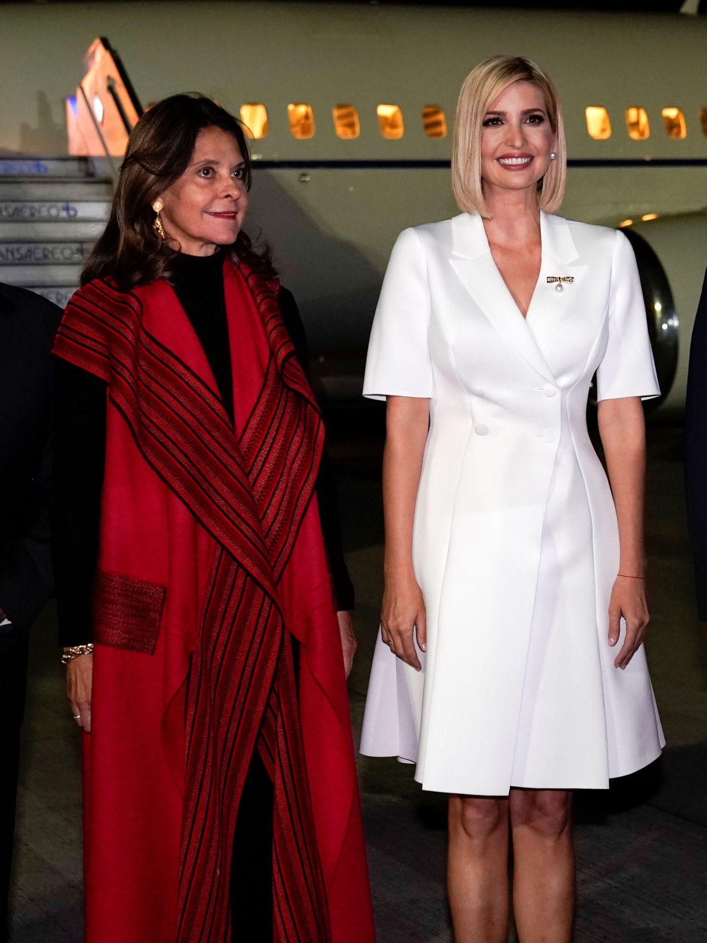 Ivanka Trump junto a Marta Ramírez, vicepresidenta de Colombia. (Reuters)
