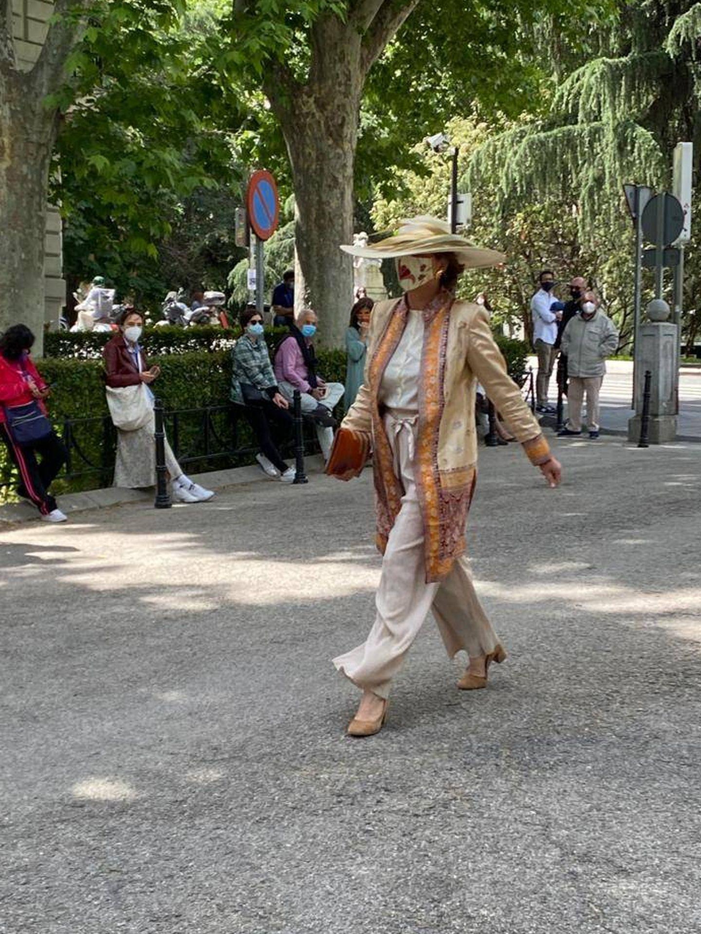Sofía Barroso, la madre de Sofía Palazuelo, ha sido una de las primeras en llegar. (P.I.)